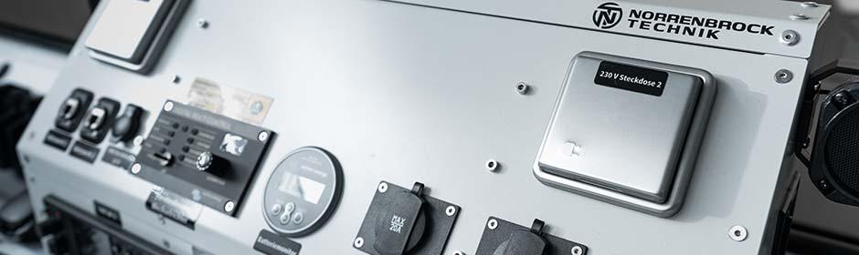 IT-Komponenten in einem Sonderfahrzeug