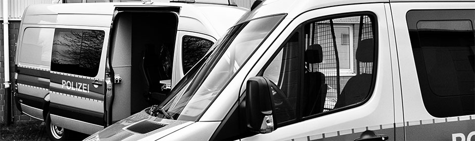 Sonderfahrzeuge für die Polizei
