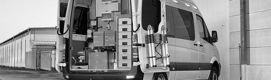Technische Systeme in einem Sonderfahrzeug